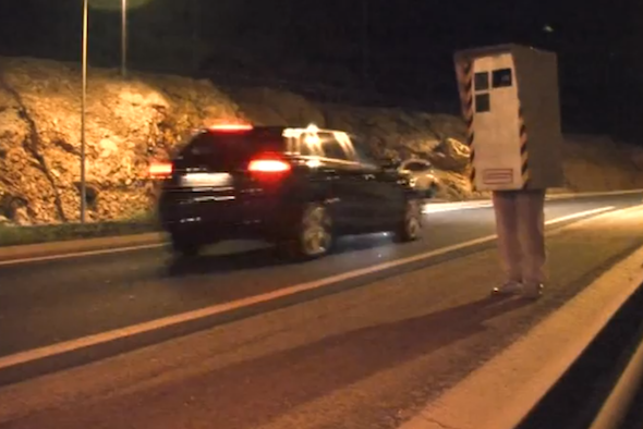 Video: French prankster dresses up as speed camera