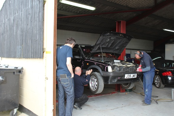 Project Peugeot: Get the angle grinder out