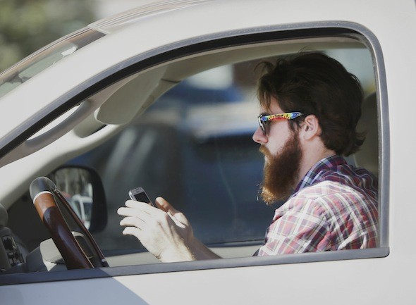 £90 fine for drivers caught texting at the wheel