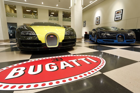£8 million collection of Bugatti Veyrons storms London