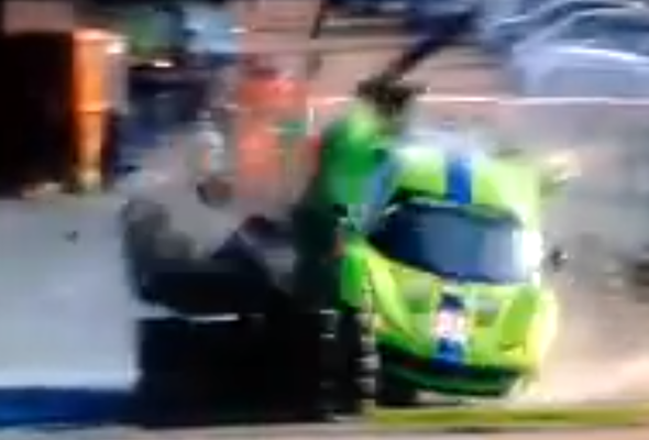 Video: Ferrari racer crashes at Le Mans