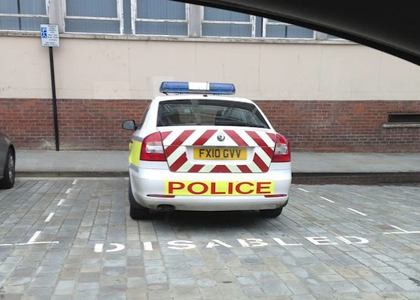 Police spotted parking in disabled bays on new Facebook page