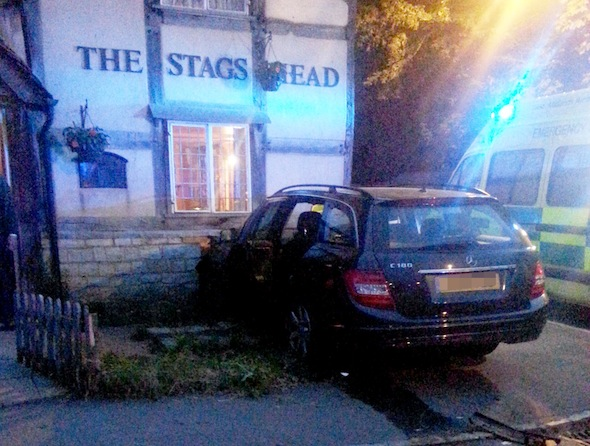 Pub pulverising Mercedes gives new meaning to 'getting smashed'