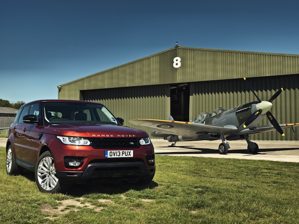 Range Rover Sport takes on Spitfire