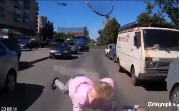 Video: Dramatic dash-cam footage captures children's collision with car