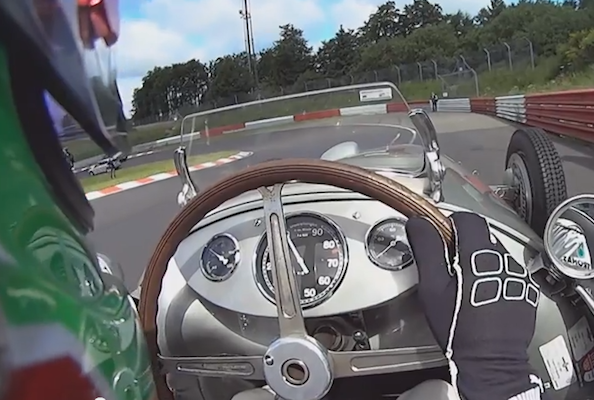 Video: Lewis Hamilton swaps F1 car for vintage racer
