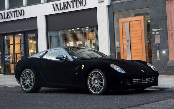 Fuzzy Fezza! Ferrari 599 receives velvet makeover