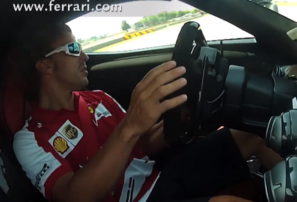 Fernando Alonso drives a LaFerrari like he stole it