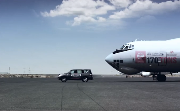 Nissan tows its way into the record books