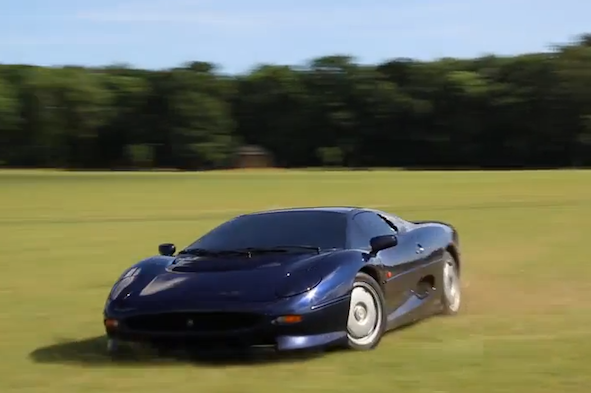 Video: Child takes Jaguar XJ220 on a joyride