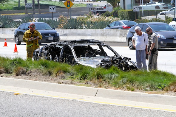 Dick Van Dyke rescued from burning car by passer-by