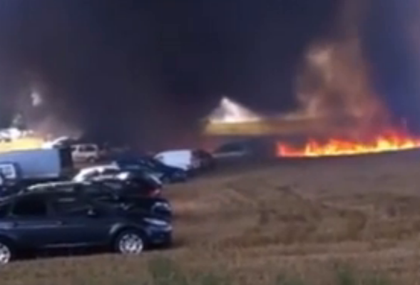 Sixty four cars destroyed in French stunt show blaze
