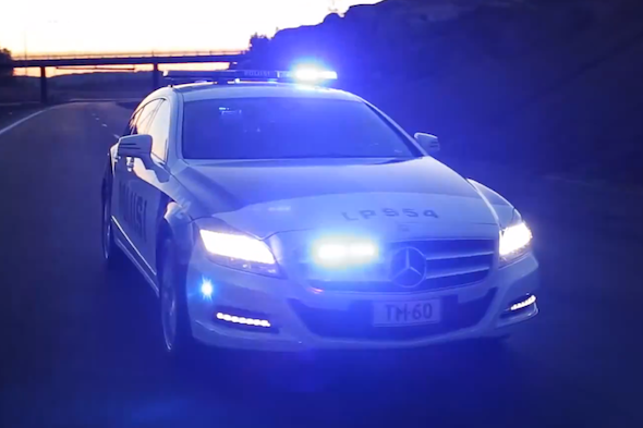 Finnish police show off their latest toy