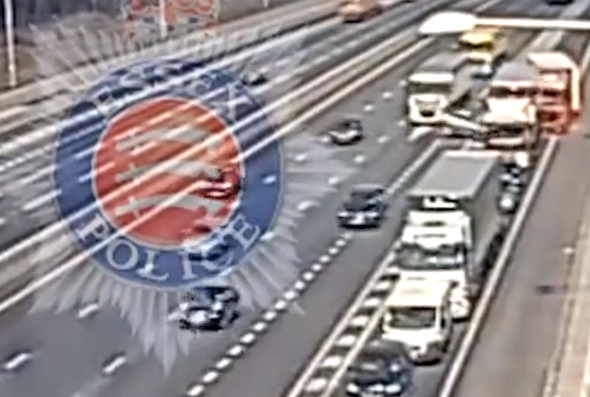 M25 crash lorry driver jailed