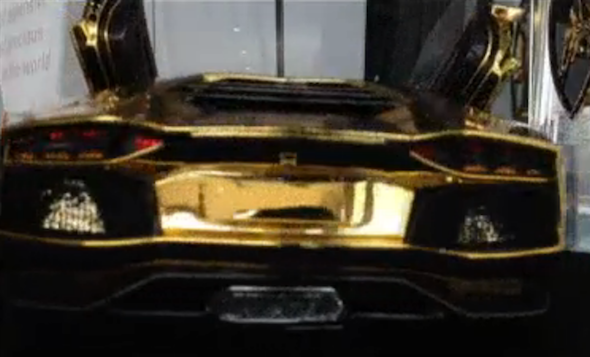 Solid gold Lamborghini Aventador model to go under the hammer