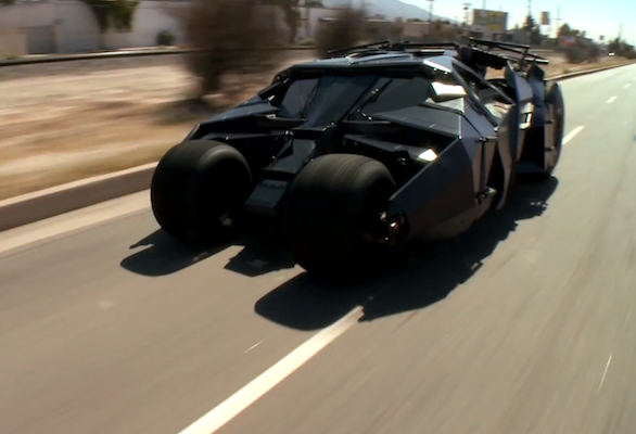 Video: Jay Leno gets to grips with the Batman Tumbler