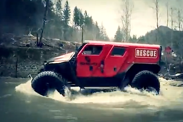 Romanian off-road specialists reveal extreme rescue vehicle