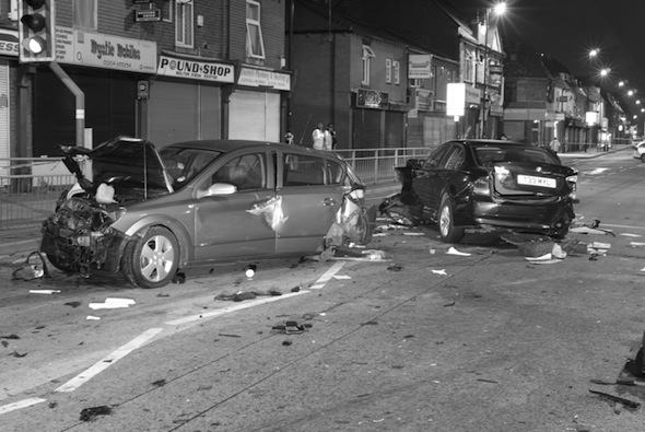 Drivers jailed after horror street race crash leaves two injured