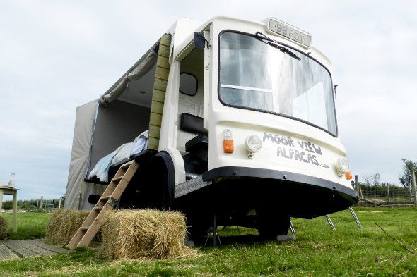 Couple turns milk float into £95-a-night B&B room