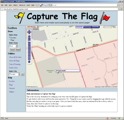 Capture The Flag Screenshot.
