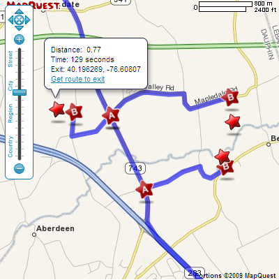 Time Dependent Routing And Path From Route Added To Directions - Mapquest distance