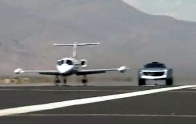 VIDEO: Jay Leno explains his biodiesel-powered EcoJet, races a private plane