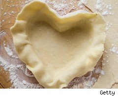 Heart-shaped pastry case