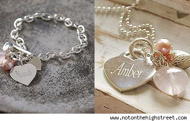 Personalised jewellery from www.notonthehighstreet.com
