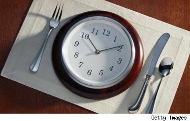 Clock with knife and fork