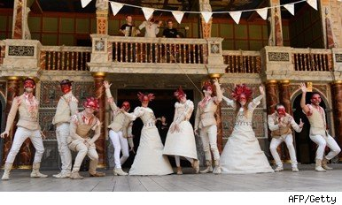 Performers at Shakespeare's Globe theatre