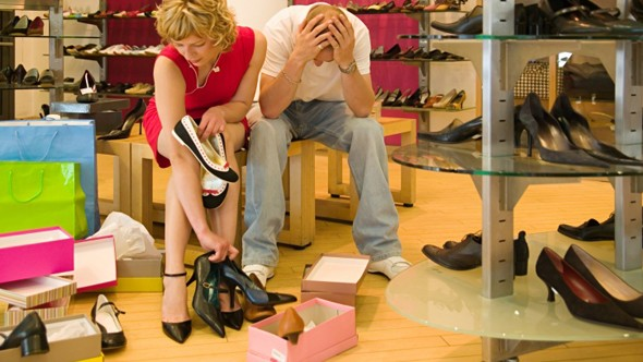 women only wear 25 per cent of their shoe collection
