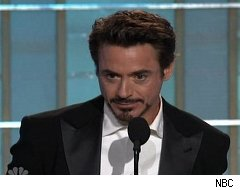 Robert Downey Jr. at the 67th Annual Golden Globes