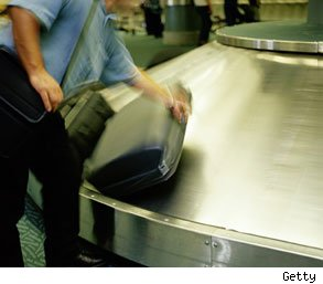 baggage claim maintenance worker injured