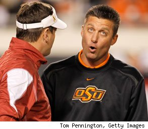 Oklahoma Cowboys coach Mike Gundy fires carpenter