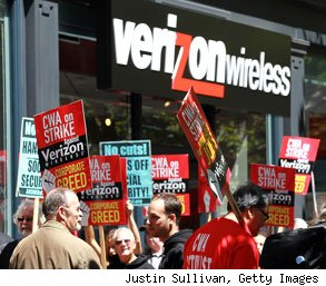 Verizon strike unemployment aid higher