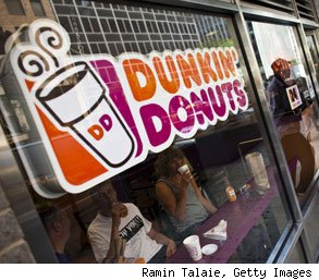 Dunkin Donuts employee caught dumping food