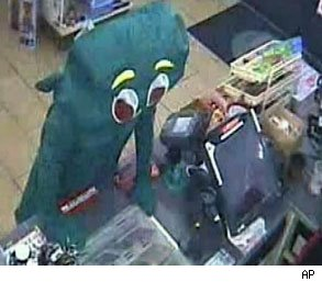 Gumby costume robbery attempt
