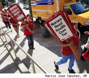 California nurses on strike for no health care