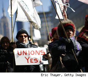 benefits of labor unions in America