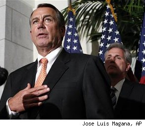 John Boehner GOP reject payroll tax cut