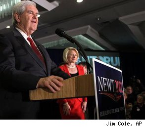 Newt Gingrich jobs South Carolina