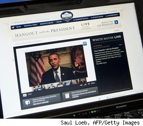 Barack Obama Google+ hangout new job