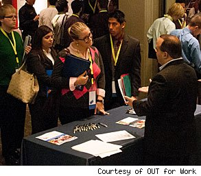 LGBT Out for Work career fair college