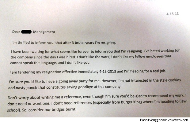 Burger King Worker Quits With Bridge-Burning Resignation Letter