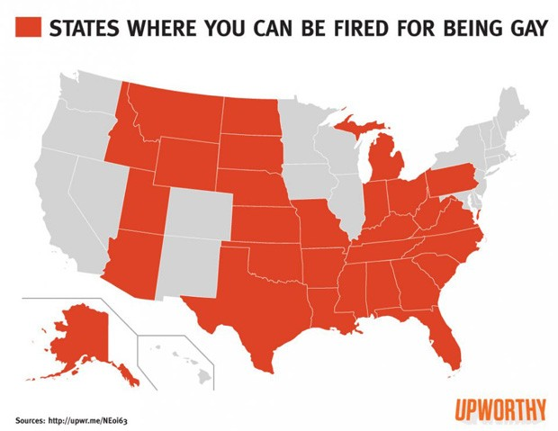 states where fired for being gay