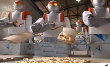 Robots are now cooking food at fast food restaurants.