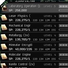 Eve evolved research tech 1 blueprints research relies heavily on the science skill field and entry level skill requirements are very low copy jobs require only the science skill itself malvernweather Images