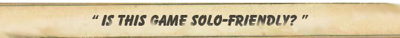 Is this game solo friendly?