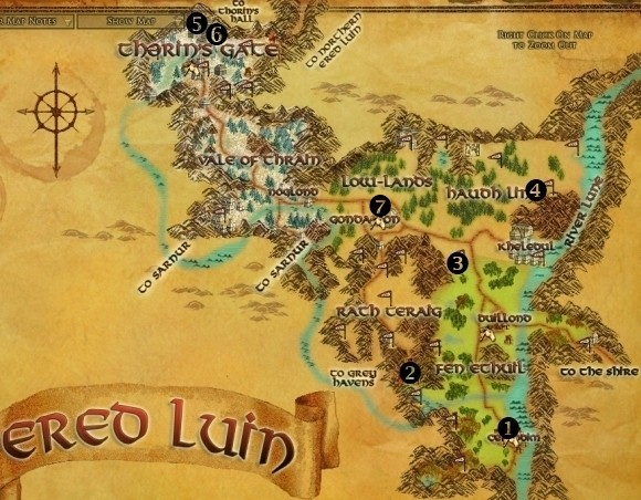Ered Luin map