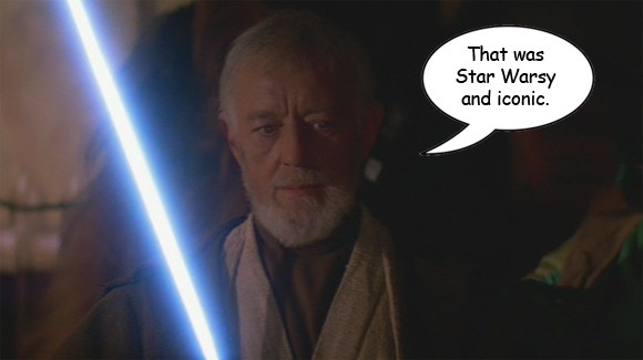 Alec Guiness is Starwarsy and iconic